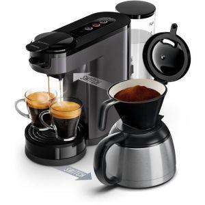 Philips HD6591/21 Machine à café à dosette ou filtre Switch - Verseuse isotherme - 1 L - Gris