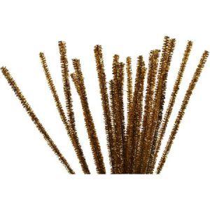 Creotime Fil chenille - Or - 6 mm x 30 cm - pcs