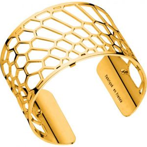 Les Georgettes Bracelet Nid d abeille Or Large