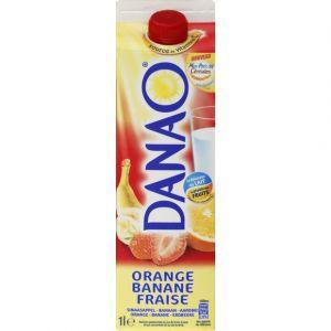 Danao Jus de fruits à base de lait - Orange, banane, fraise - La brique de 1L