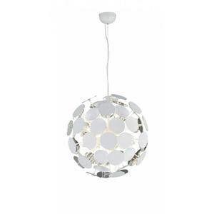 Trio Suspensions 6 lampes design Discalgo Blanc 01 Métal 309900631