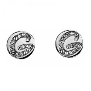 Image de Guess UBE11301 - Boucles d'oreilles puces argentées et strass