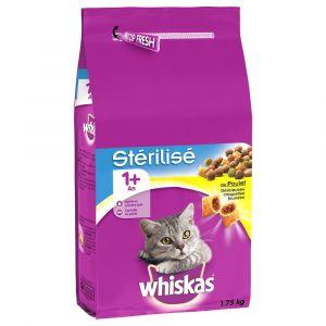 Whiskas Croquettes au Poulet - Sac de 1,75 kg pour Chat Stérilisé (> 1 an)