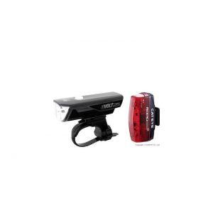 Cateye GVolt 25 HL-EL360GRC + Rapid Micro G HL-EL620G Set - Kit éclairage vélo - noir Sets de lampes
