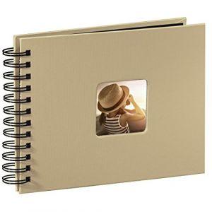 Hama Fine Art Spiral taupe 24x17 50 schwarze Seiten 113675