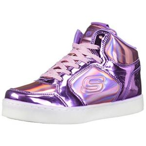 Skechers Energy Lights Shiny Brights - Baskets Enfant, Argent