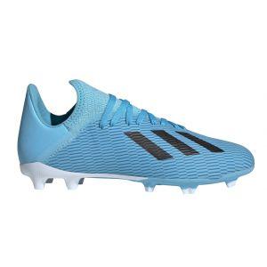 Adidas X 19.3 FG J, Chaussures de Football bébé garçon, Bleu (Bright Cyan/Core Black/Shock Pink Bright Cyan/Core Black/Shock Pink), 38 2/3 EU