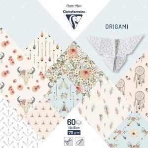 Clairefontaine Pochette 60 Feuilles Origami 15x15 cm - Dreamcatcher