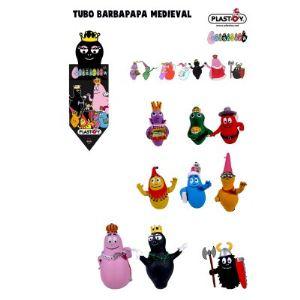 Plastoy Tubo de 9 figurines Barbapapa médiéval