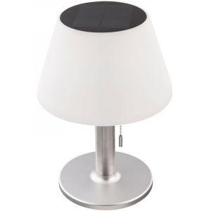 Globo LED Lampe de table SOLAIRE d'extérieur à 2 étages en acier inoxydable jardin terrasse spot interrupteur à tirette balcon lampe 33548