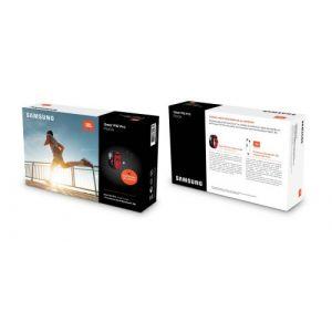 Samsung Pack Bracelet connecté Gear Fit2 Pro Noir et Rouge Taille L + Ecouteurs Bluetooth JBL Inspire 500 Noir