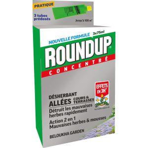 Roundup Désherbant concentré allées et cours 3 tubes