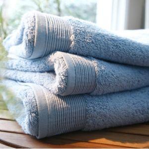 Blanc des vosges Eponge unie Gant Coton Bleuet 16x22 cm