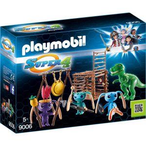Playmobil 9006 Super 4 - Tribu d'alien avec bébé tyrannosaure