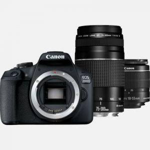 Canon EOS 2000D + Objectif EF-S 18-55mm IS II + Objectif EF 75-300mm III