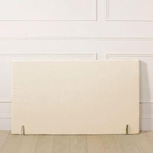 Housse tête de lit polycoton, forme droite Blanc Écru Taille 140x85 cm;160x85 cm;90x85 cm