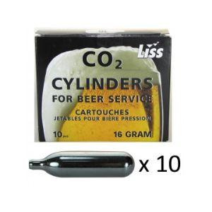 Liss Lot de 10 cartouches de gaz CO2 pour tireuse à bière