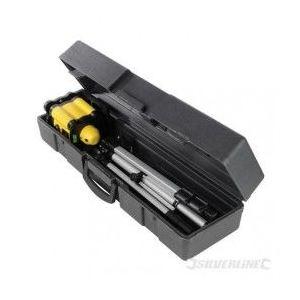 Silverline 273233 - Coffret niveau laser rotatif portée de 30 m