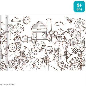 Avenue mandarine Rouleau de papier à colorier Graffy Roll - Le petit monde agricole - 35 cm x 5 m