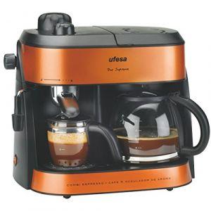 Ufesa CK7355 Duo Supreme - Machine à café avec buse vapeur Cappuccino