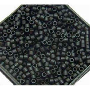 Rayher Perles Miyuki Delica 10/0 métallic dépoli noir - DMB 310