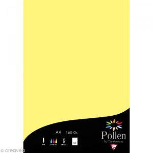 Clairefontaine 14207C - Paquet filmé de 50 feuilles papier Pollen 210x297, 160 g/m², coloris canari