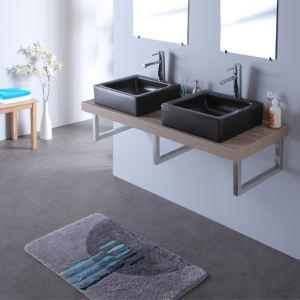 Meuble salle bain double vasque noir - Comparer 125 offres