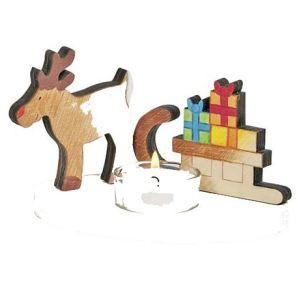 Toys Pure Bougeoir traineau du père noël en bois à peindre Paul