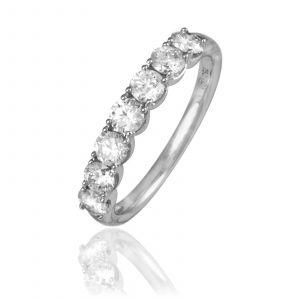 Histoire d'Or Demi-alliance Or Blanc Eloise Diamants