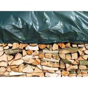 Nature Bâche pour tas de bois en polyéthylène 90gr/m² vert 1,5x6m