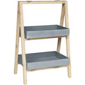 Cemonjardin Etagère Freesia petit modèle gris en bois et grès SANDSTONE