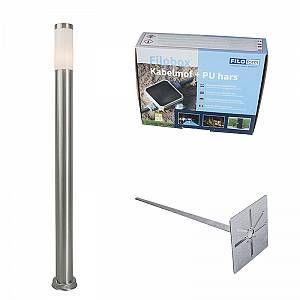 Qazqa Lampe d extérieur Rox piquet 110 cm avec piquet de terre manchon de câble