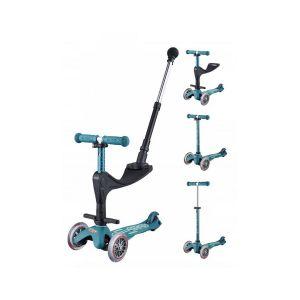 Micro Trottinette Mini 3 en 1 Deluxe Plus Bleu glacial Multicolore Mobility