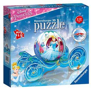 Ravensburger Puzzle 3D 72 pièces : Le Carrosse de Cendrillon