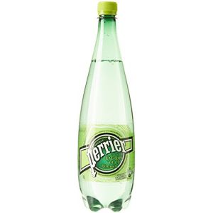 Perrier Eau gazeuse minérale naturelle aromatisée au citron vert - La bouteille de 1L