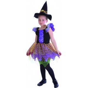 Déguisement sorcière colorée pour fille