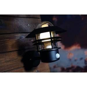 Nordlux Applique BLOKHUS détecteur E27 60W Noir SG 25031003