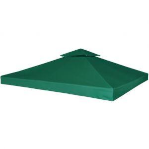 VidaXL Toile de rechange 3 x 3 Vert 270 g/m² pour pergola Gazebo