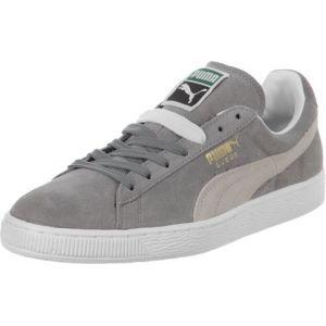 Puma Suede Classic+ - Baskets mode - Mixte Adulte - Gris (Grey/White 66) - 40.5 EU