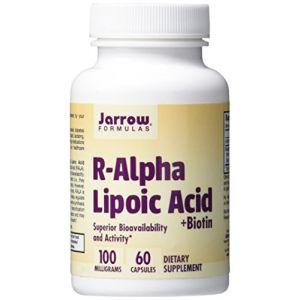 Jarrow formulas Acide lipoïque R-alpha, la biotine, 60 Capsules Végétales