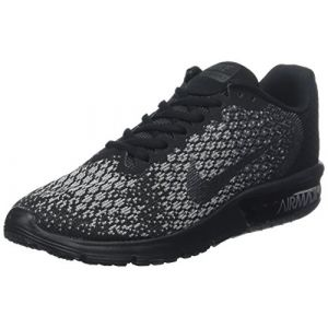 Nike Air Max Sequent 2, Chaussures de Tennis Homme, Nero (Black/MTLC Hematite/DK Grey/Wolf Grey/Volt), 45 EU