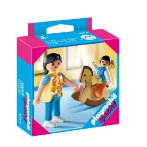 Playmobil 4744 - Maman avec bébé sur Cheval à Bascule