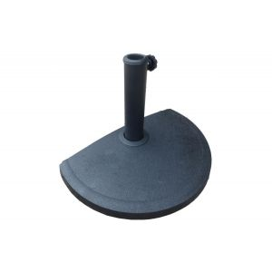 Lynco Pied de parasol balcon résine - Gris