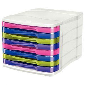 CEP Office Solutions Bloc de classement 4 tiroirs multicolore Happy 394 HM