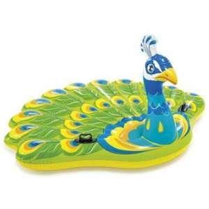 Intex Grande bouée paon gonflable pour piscine