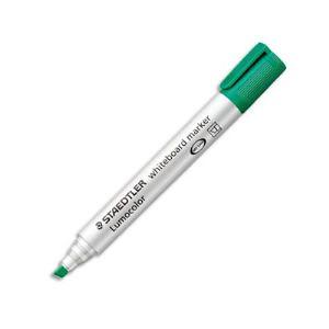Staedtler 10 marqueurs effaçables à sec encre vert pointe biseautée