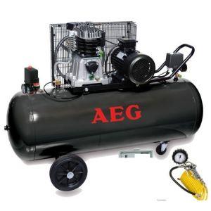 AEG Compresseur bi-cylindres 200L - 3CV - 11 bar - 240 L/min avec kit complet de gonflage