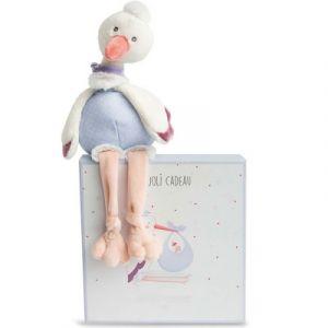 Doudou et Compagnie Peluche bébé cigogne 36 cm