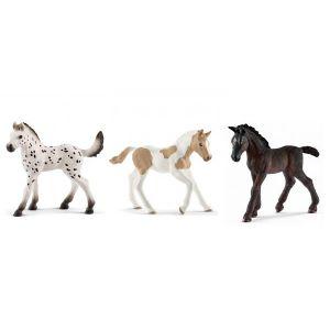 Schleich Figurines de chevaux poulain (knabstrupper, paint horse, lipizzan)