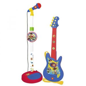 TOY STORY Ensembles Guitare 4 cordes et microphone Fonctione avec 4 piles 1,5V (type AA R6)